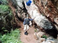 Góry Świętokrzyskie, maj 2003 - Przemek na szlaku