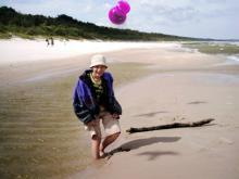 Wolin, czerwiec 2003 - Na plaży