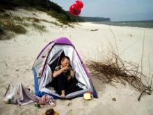 Wolin, czerwiec 2003 - Obiad na plaży