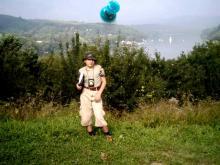 Bieszczady, sierpień 2003 - Punkt widokowy w Chrewcie