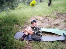 Włochy, lato 2004 - Nocleg przy plantacji nektarynek