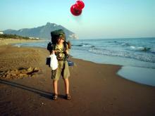Włochy, lato 2004 - Na plaży w Sabaudii, Włochy