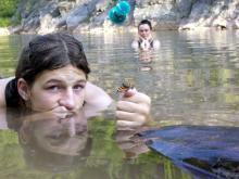 Sudety 2006 - Kąpiel z motylkiem