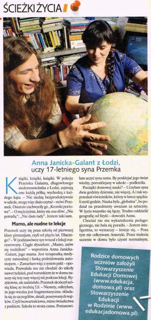 2009-01-19 Claudia - Uczę dzieci sama w domu, str 36