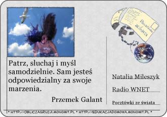 Pocztówka ze świata - Przemek Galant